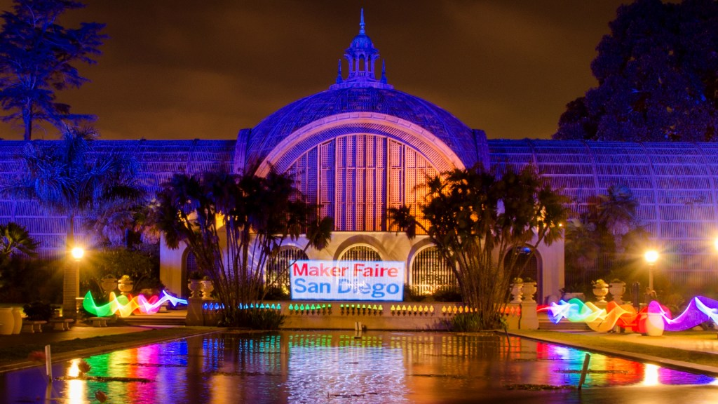 Meet the Maker: Light Painting Botanical Building Balboa Park at Night