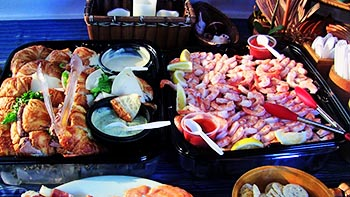 Catering on the yacht for Burial at Sea charter