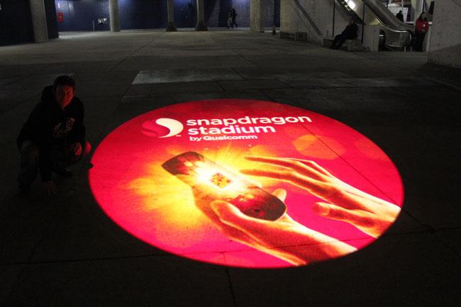 Qualcomm Snapdragon Gobo on Floor