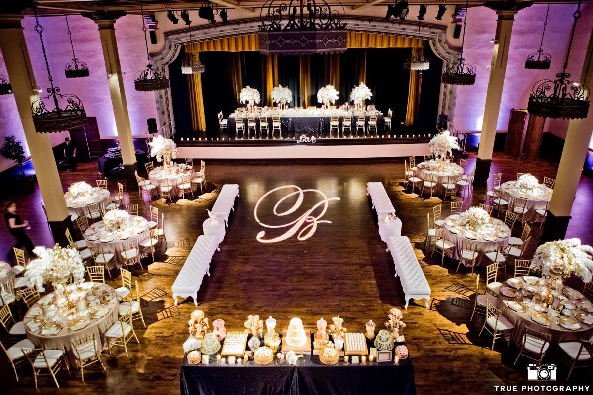 The-Prado-Grand-Ballroom-Soft-Pink-Uplights-with-Custom-Gobo