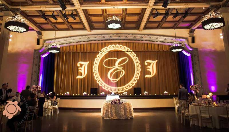 The Prado Wedding Lighting-Specialists Gobo Monogram