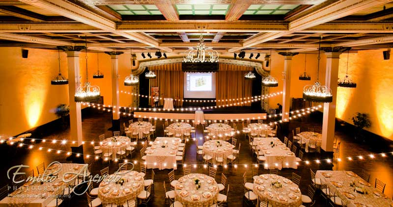 The Prado Wedding Lighting-Specialists Market Lights Reception