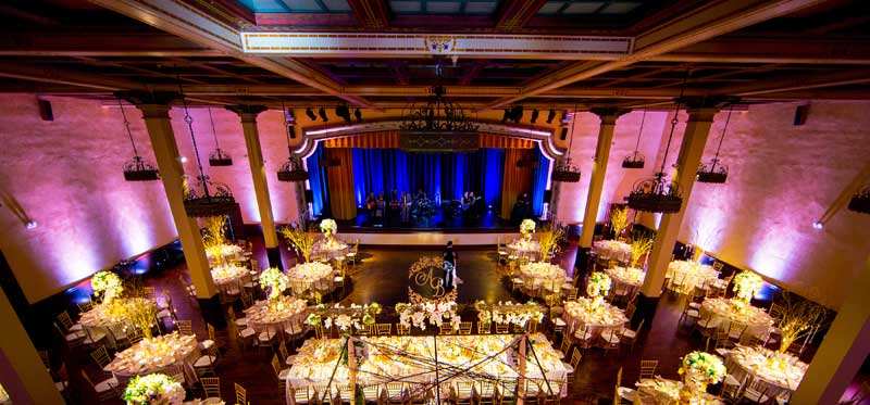 The Prado Wedding Lighting Specialists Uplights