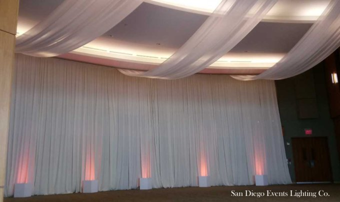 backdrop with ceiling drapes Scripps Forum