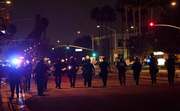 4th Night of Unrest in Anaheim As Protesters Confront Police