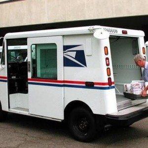 postal worker truck