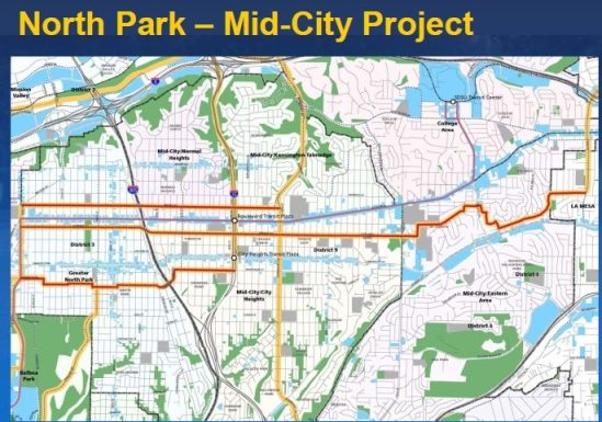 North Park mid city bike map