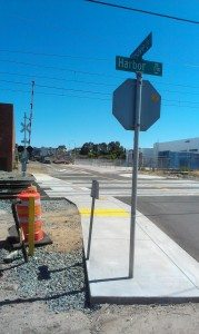 Sigsbee at Harbor - Rail  Project Improvement Sidewalk