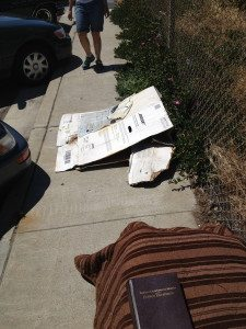Bible in a homeless encampment on 19th Street