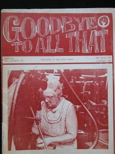 "3394: ""Good Bye to All That"" 11""x 17"" newspaper published by members of the San Diego Women's Center.  Feb/Mar issue, 1972."