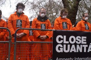 Amnesty International demonstration against GTMO--Photo Credit: Flickr Creative Commons/casmaron/Amnesty International
