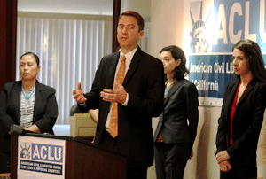 ACLU pic of Press Conference annoucing suit