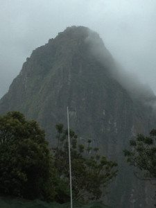 Huayna Picchu from our hotel room.