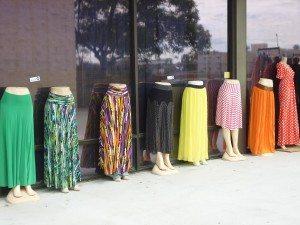 Dresses outside the market