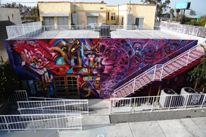 A mural by Isaias Crow and Werc outside the back of The Front.