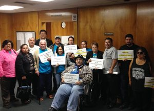 Barrio Logan residents and advocates after City Council voted.
