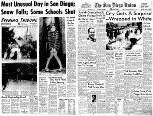 It really did snow once in San Diego -Dec. 13, 1967