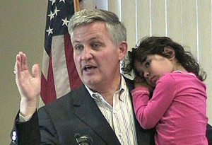 County Supervisor Dave Roberts with Daughter Natalie Source: Escondido Democratic Club