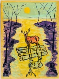 Deer on a Raft Ernie Silva