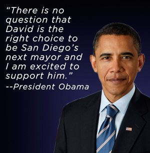 President Obama endorses David Alvarez for Mayor of San Diego.