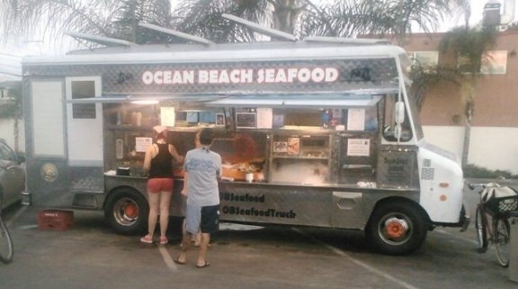 Ocean Beach Seafood in Parking Lot of OB Hotel.  Photo by Mercy Baron, courtesy of OB Rag