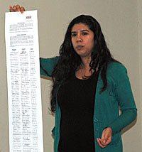 Lisa Maldonado Robinson holds Casino Pauma worker petition