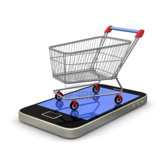 Smartphone-Used-for-Shopping-Carts