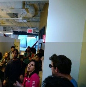 UCSD grad students protesting.