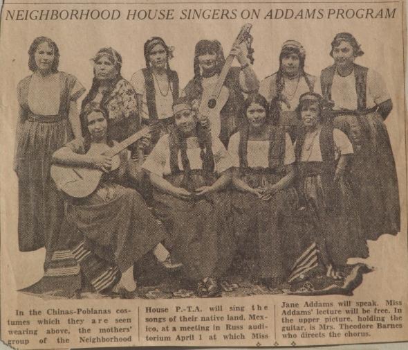 Chinas-Poblanas Neighborhood House singers