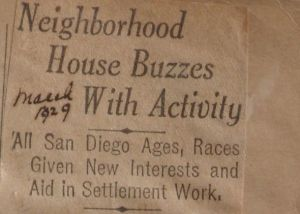 A History of Neighborhood House in Logan Heights: 1918-1929