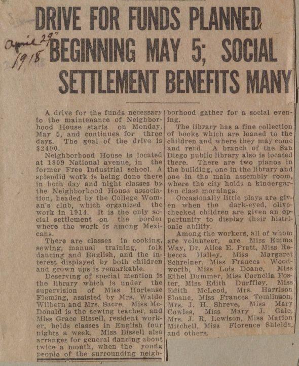 NH fund drive 1918