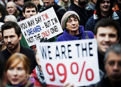 We Are 99 >> We Are The 99 Percent