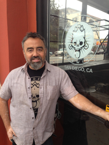 Border X Brewing co-owner David Favela outside the tasting room.