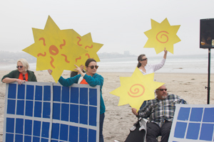 San Diegans rallying for alternative energy solutions.