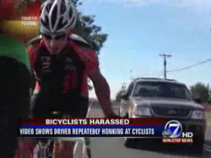 cyclist harassed