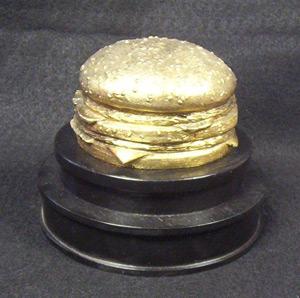 gold cheeseburger