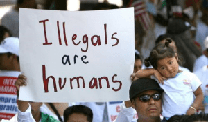 illegal immigrant protest