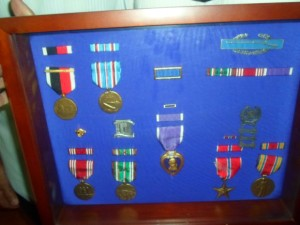 Johnny Rubalcava's  Purple Heart and other WWII Medals