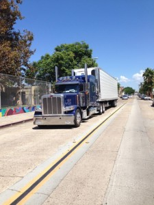 Illegal Semi on Beardsley next to Perkins Elementary in Barrio logan