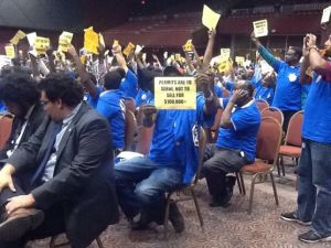 Taxi Drivers at the City Council
