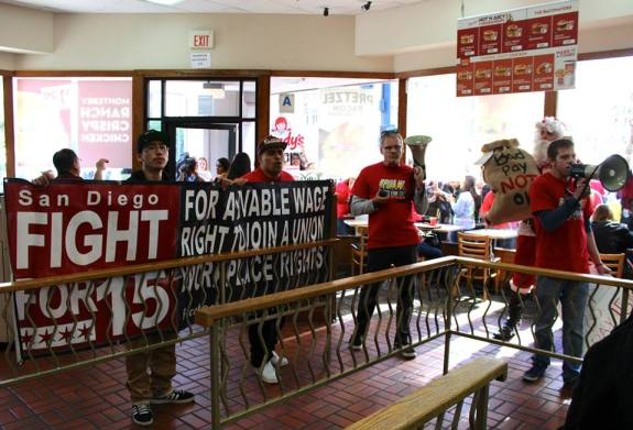 Inside Wendy's (SEIU Photo)