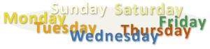 days of week