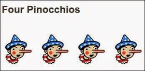 four pinocchios