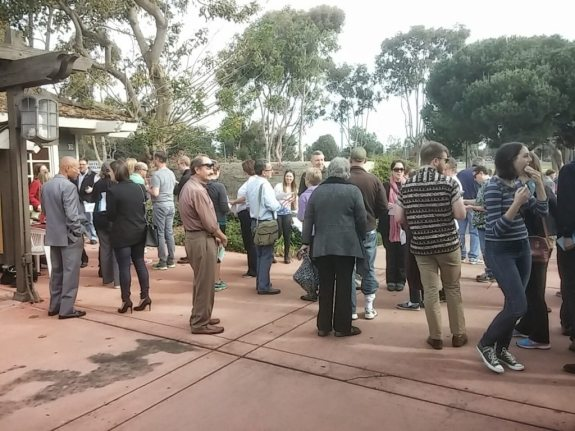 The crowd outside the 78th polling place
