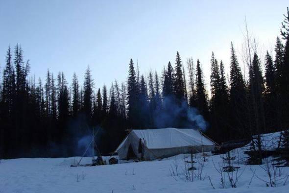 Unist'ot'en Camp scene