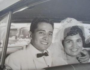 Richard and Mary Castillo wedding 1960