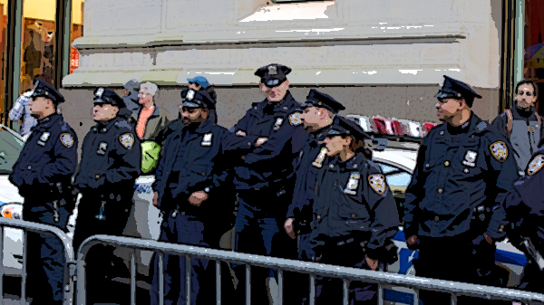 The NYPD's move just showed that all of the rhetoric about being the thin blue line between order and chaos is complete garbage.