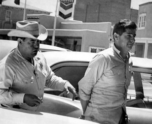King Tiger handcuffed in 1967 in New Mexico.