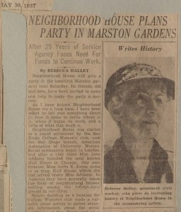 Newspaper article by Rebecca Halley