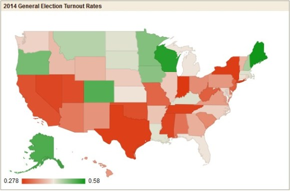2014 November General Election Turnout Rates